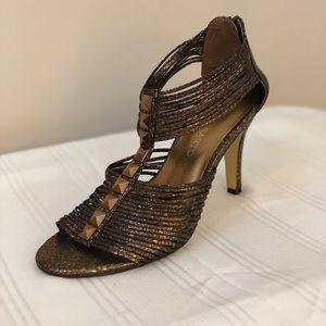 Franco Sarto- bronze heels